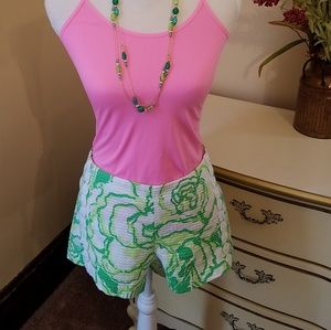 Lilly Pulitzer Shorts lime green and white Size 6